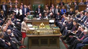 Prime Minister Theresa May speaks in the House of Commons during the Brexit debate (Commons/PA)