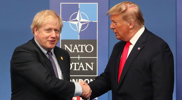 Boris Johnson and Donald Trump (Steve Parsons/PA)