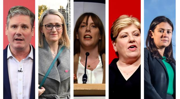 Labour leadership candidates (PA)
