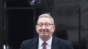 Len McCluskey of Unite leaves 10 Downing Street, London, after talks with the Government over Brexit. (PA/Stefan Rousseau)