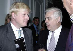 Lord Lamont, seen here with Boris Johnson in the Prime Minister's days as Spectator editor, said Britain's membership of the EU may have been 'doomed from the start' (PA)