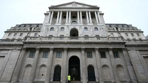 The Bank of England has kept interest rates unchanged at the all-time historic low of 0.1% (PA)