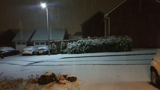 Snow blankets the ground in south Wales (Graham Rose/PA)