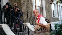 Prime Minister Boris Johnson's senior aide Dominic Cummings arrives at his north London home, after he a gave press conference over allegations he breached coronavirus lockdown restrictions (Aaron Chown/PA)