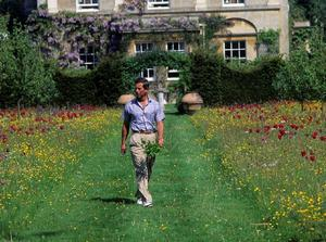 Charles in the grounds of his Highgrove home where gardens are closed to the public due to Covid-19 (Highgrove Enterprises)