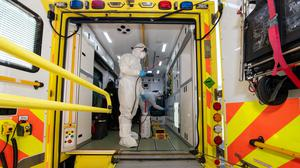 Assaults on Northern Ireland Ambulance Service (NIAS) staff soared to 44 incidents last month after dropping significantly during the March and April lockdown. (Cpl Anil Gurung/MoD/PA)