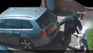 The four attackers are now being hunted by police. (West Midlands Police/PA)