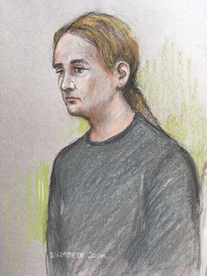 Court sketch of Natasha Welsh appearing in court at the Old Bailey, London (Elizabeth Cook/PA)