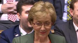 Former business secretary Andrea Leadsom praised Prime Minister Boris Johnson as 'the right person to seize the opportunities' that await the UK post-Brexit (House of Commons/PA)