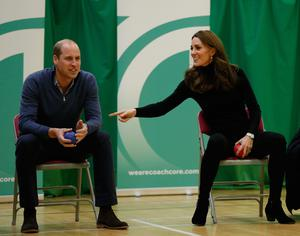 The Cambridges on a visit to Coach Core Essex in Basildon in 2018 (Adrian Dennis/PA)