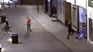 CCTV captured Jake Mann filming the assault on a mobile phone (Humberside Police)