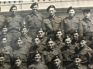 Close up of George Simms' unit. Mr Simms is second row from back, fourth from left. (George Simms/PA)