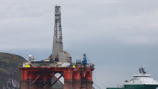 Environmental campaigners held protests on the oil rig in the Cromarty Firth (Greenpeace/PA)