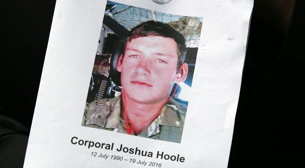 Order of Service from the funeral of Corporal Joshua Hoole (Andrew Milligan/PA)
