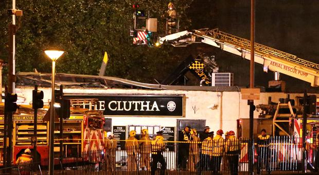 The helicopter crashed through the roof of the pub in November 2013 (PA)