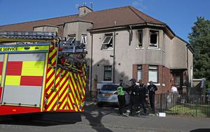 Investigations are under way following the fire in Paisley (Andrew Milligan/PA)