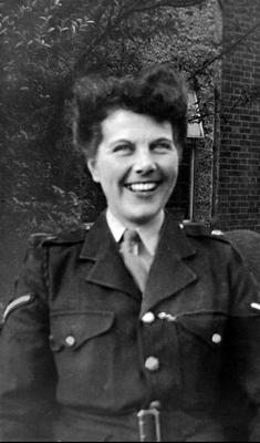 Joan Rich served with the Royal Military Police during the Second World War.