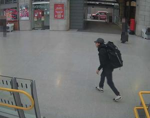 Salman Abedi at Victoria Station making his way to the Manchester Arena (GMP/PA)