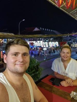 Chloe Sloggett and Toby Hastie, from North London, returned to the UK from Cambodia on Saturday (Chloe Sloggett handout/PA)