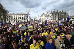 An estimated one million people marched in London (Yui Mok/PA)