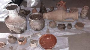Items stolen from an ancient site in Bulgaria (Europol/PA)