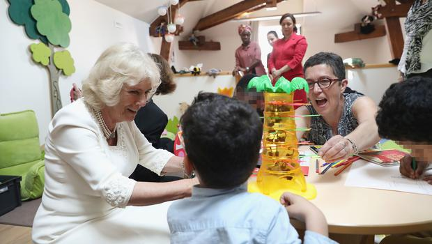 The Duchess of Cornwall visited SOS Femmes in Lyon, France (Chris Jackson/PA)