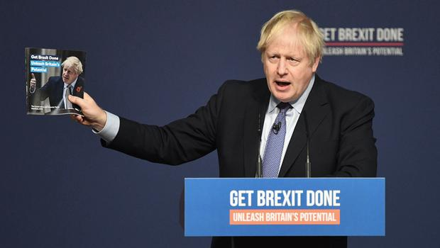 Prime Minister Boris Johnson at the launch of his party's General Election manifesto (Stefan Rousseau/PA)