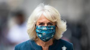 The Duchess of Cornwall arrives at the recently reopened National Gallery in London (Aaron Chown/PA)