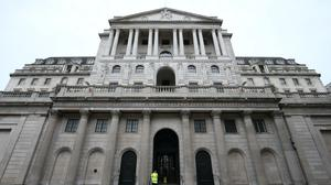 The Bank of England is set to fire up the money printing presses once more on Thursday as the coronavirus crisis continues to hammer Britain's economy (Jonathan Brady/PA)
