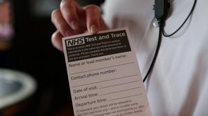 An NHS Test and Trace form (Yui Mok/PA)