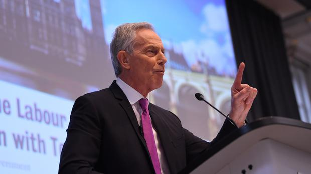 Ex-prime minister Tony Blair has urged his party to co-operate with the Liberal Democrats (Stefan Rousseau/PA)
