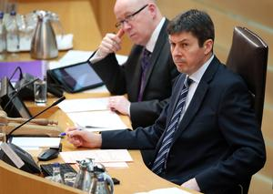 Scottish Parliament Presiding Officer Ken Macintosh (right) confirmed the plans (PA)