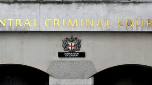 A sign at the Central Criminal Court, the Old Bailey (Nick Ansell/PA)