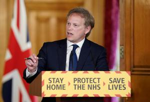 Transport Secretary Grant Shapps emphasised the importance of staying at home (Pippa Fowles/10 Downing Street)
