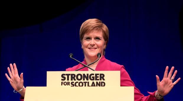 Nicola Sturgeon has been on the election trail in Stirling (PA)