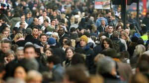 The global population is forecast to plummet by the end of the century (John Stillwell/PA)