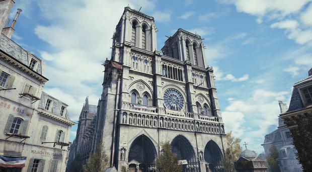 Assassin's Creed Unity features a lifelike recreation of Notre Dame (Ubisoft)