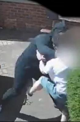 The male victim was punched and kicked, with a stamp aimed at his head as he lay on the ground. (West Midlands Police/PA)