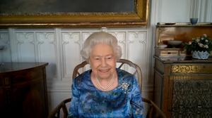 The Queen during the call (Buckingham Palace/PA)