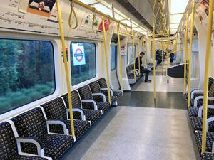 Many District line carriages were left sparsely-filled during lockdown (Martin Keene/PA)