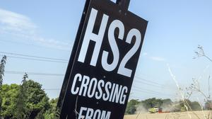 HS2 was described in court as 'controversial' (Steve Parsons/PA)