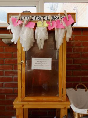 The Little Free Library on the Hill, which washes and distributes vinyl gloves, in Norwich, Norfolk, taken by Peter Offord (Peter Offord/Historic England/PA)