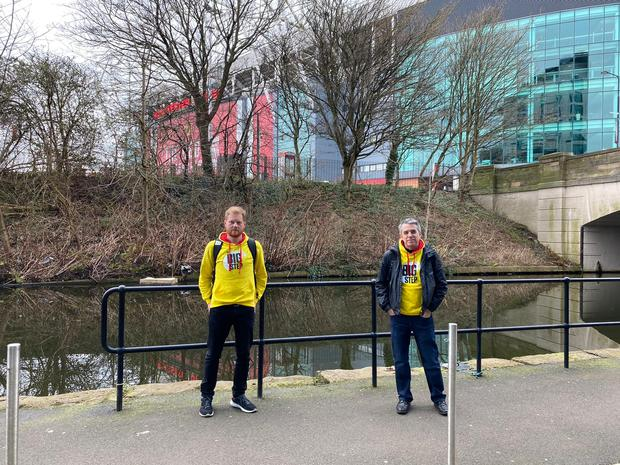 James Grimes walked with Labour MP Jeff Smith to Old Trafford (The Big Step)