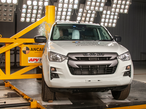 The Isuzu D-Max was handed a five-star safety rating despite dropping points for its affect on other vehicles during collisions (Thatcham Research/PA)