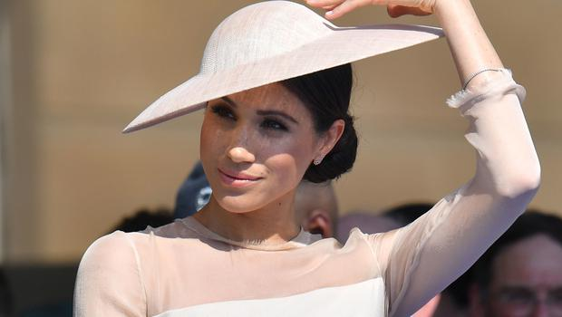 The Duchess of Sussex wore a dress by Goat (Dominic Lipinski/PA)