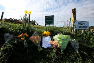 Floral tributes left following the discovery of Karen's body in April