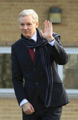 Assange, pictured here in February 2011, was accused by the the Ecuadorian government of 'repeated violations' of 'international conventions and daily-life protocols' (Yui Mok/PA)
