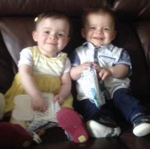 Twins Evie and Oliver. (Family/PA)
