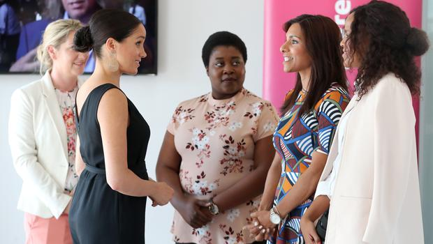 Meghan carried out the engagement while Harry flew to Botswana for a solo visit (Chris Jackson/PA)