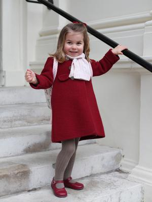 Princess Charlotte on her first day at nursery (HRH The Duchess of Cambridge/PA)